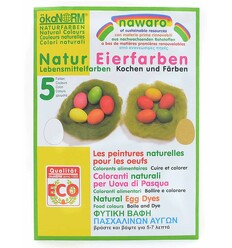 OsterEier Farben 5 ökologische NATUR Lebensmittelfarben zu Ostern-Öko Spielzeug-Naturspielzeug