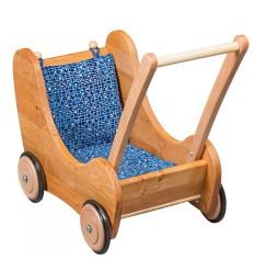 Puppenwagen mit Bremse - Verneuer Massivholz