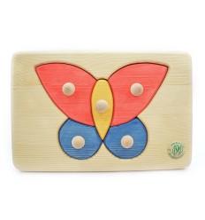 Massivholz Puzzle - Schmetterling