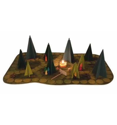 Kraul Märchenhaftes Waldschattenspiel-Öko Spielzeug-Naturspielzeug