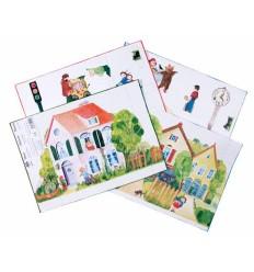 Ausschneide-Bastelbogen Haus und Spiel - Kraul-Öko Spielzeug-Naturspielzeug