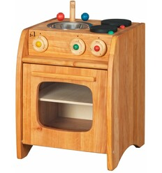 Kinderküche mittel Erlenholz-Öko Spielzeug-Holzspielzeug