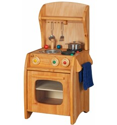 Kinderküche Erle Komplettset-Öko Spielzeug-Holzspielzeug