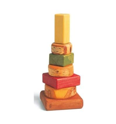 Waldorf Steckturm - Massivholz-Öko Spielzeug-Holzspielzeug