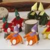 Filzzwerge 6 Stück-Öko Spielzeug-Holzspielzeug