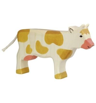 Holztiger Kuh  stehend  braun