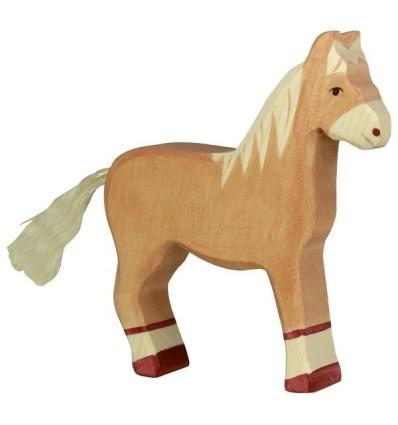 Holztiger Pferd  stehend  hellbraun