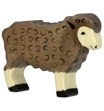 Holztiger Schaf  stehend  schwarz