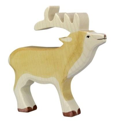 Holztiger Hirsch
