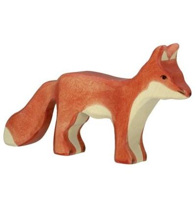 Holztiger Fuchs  stehend