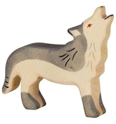 Holztiger Wolf  heulend