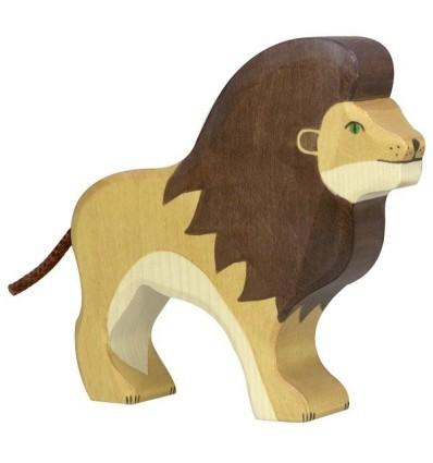 Holztiger Löwe