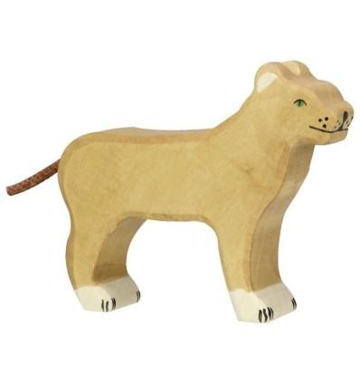 Holztiger Löwin