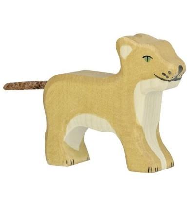 Holztiger Löwe  klein  stehend