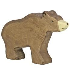 Holztiger Braunbär