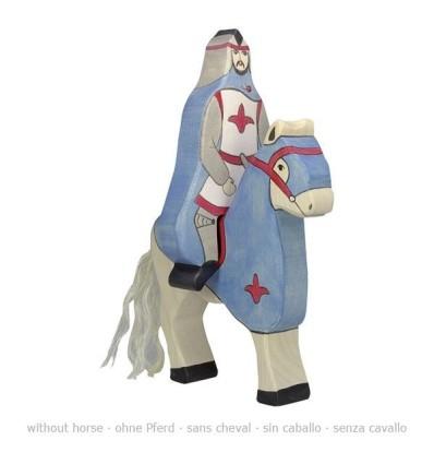 Holztiger Blauer Ritter mit Mantel  reitend (ohne Pferd)