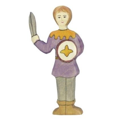 Holztiger Junge  violettes Hemd
