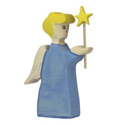 Holztiger Engel mit Stern