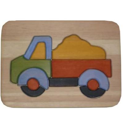 Großes Holzpuzzle Lastwagen 12tlg.-Öko Spielzeug-Holzspielzeug