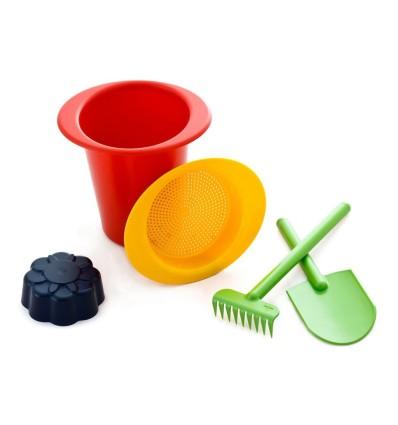 Sandkastenset aus Bio-Kunststoff. Schadstofffrei und sicher Spielen.