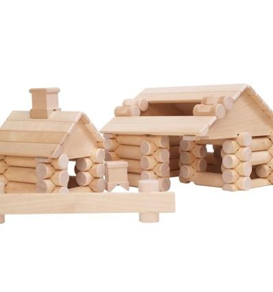 Öko Holzhaus: VARIS Baukasten 111-Öko Spielzeug-Holzspielzeug