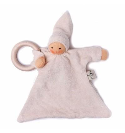 Nanchen Ringnuckel natur-Öko Spielzeug-Babies