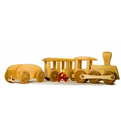 holz eisenbahn 3teilig kinder holzspielzeug drei bl tter. Black Bedroom Furniture Sets. Home Design Ideas