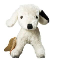 Kallisto Stofftier Hund weiß natur-Öko Spielzeug-Naturspielzeug