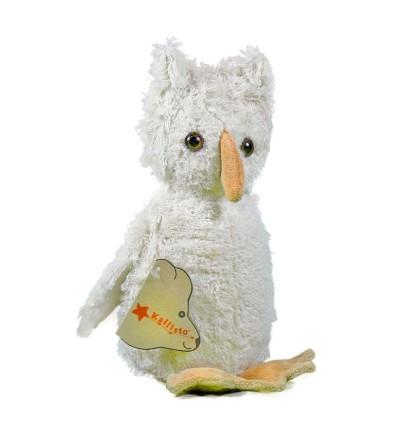 Kallisto Eule natur weiß-Öko Spielzeug-Naturspielzeug