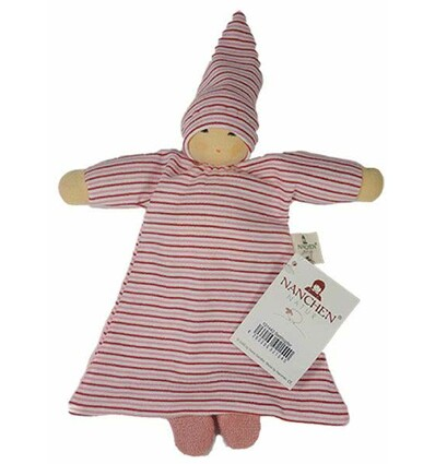 Nanchen Betthüpfer rot gestreift-Öko Spielzeug-Babies