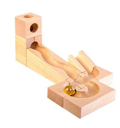 Kugelbahn Erweiterungs-Set I 10 Teile-Öko Spielzeug-Holzspielzeug