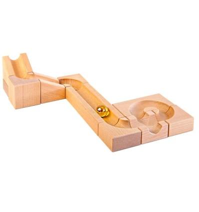 Kugelbahn Erweiterungs-Set III 11 Teile-Öko Spielzeug-Holzspielzeug