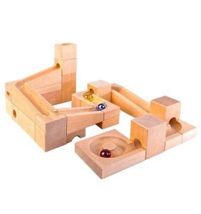 große Kugelbahn Varis Toys - ÖkoTest-Öko Spielzeug-Holzspielzeug