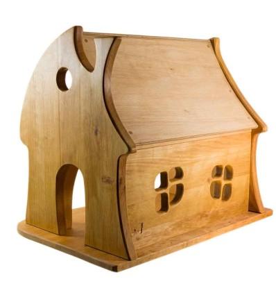 Märchenhaus Puppenhaus aus Holz - Verneuer-Öko Spielzeug-Holzspielzeug
