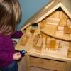 großes Puppenhaus - Massivholz-Öko Spielzeug-Holzspielzeug