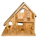 großes Puppenhaus - Massivholz