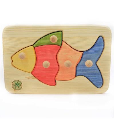 Massivholz Puzzle - Fisch-Öko Spielzeug-Holzspielzeug