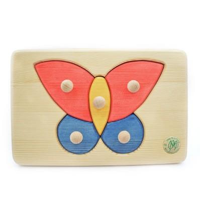 Massivholz Puzzle - Schmetterling-Öko Spielzeug-Holzspielzeug