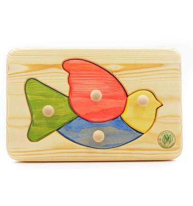 Massivholz Puzzle - Vogel-Öko Spielzeug-Holzspielzeug