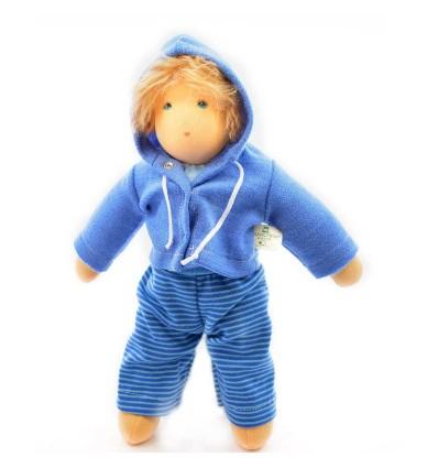 Nanchen Puppejunge Ole-Öko Spielzeug-Naturspielzeug