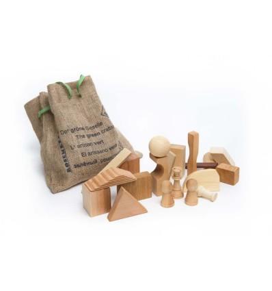 Öko Bauklötze & Bausteine: Der grüne Geselle-Öko Spielzeug-Holzspielzeug