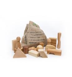 Öko Bauklötze & Bausteine:  Der grüne Lehrling-Öko Spielzeug-Holzspielzeug