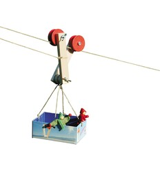 Kraul Waldorfspielzeug Seilflitzer-Öko Spielzeug-Spielplatz & Schwimmen