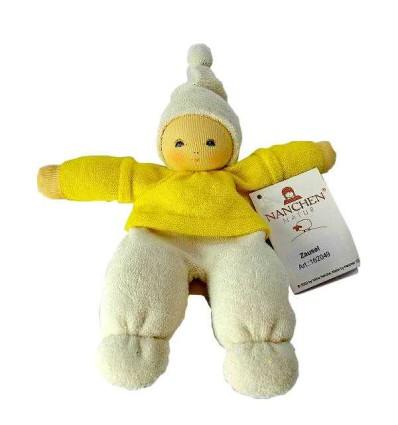 Nanchen Zausel gelb -Öko Spielzeug-Babies