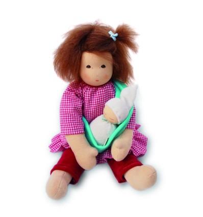 Nanchen Mama mit Baby im Tragetuch-Öko Spielzeug-Naturspielzeug