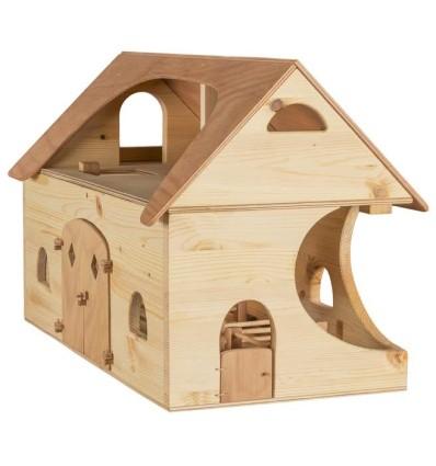 Bauernhof mit Zubehör - Verneuer-Öko Spielzeug-Holzspielzeug