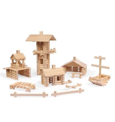 Öko Holzhaus: VARIS Baukasten 333-Öko Spielzeug-Holzspielzeug