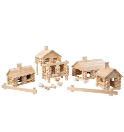 Öko Holzhaus: VARIS Baukasten 222-Öko Spielzeug-Holzspielzeug