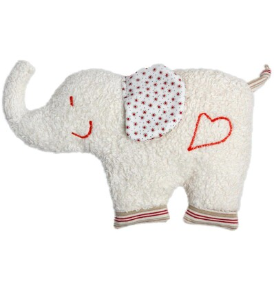 Wärmekissen Elefant Kirschkern KbA GOTS Efie -Öko Spielzeug-Babies