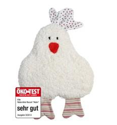 Rassel Huhn rot - KbA GOTS Efie Öko-Test-Öko Spielzeug-Babies